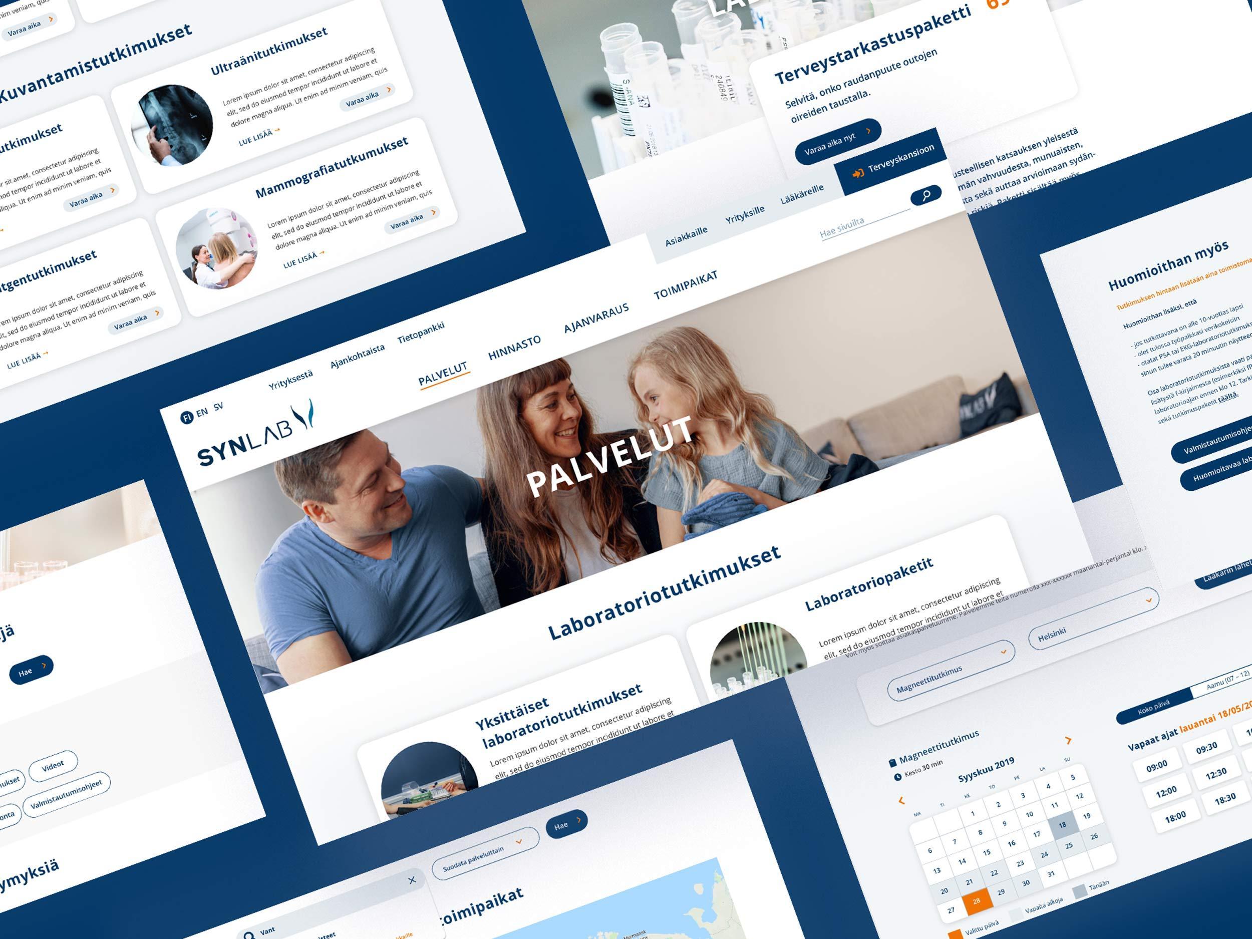 Synlab.fi räätälöity verkkopalvelu